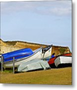 Dinghy Park At Freshwater Bay Metal Print