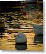 Dingy And Mooring Metal Print