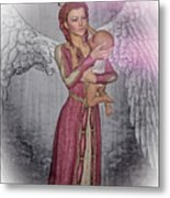 Diniel - Angel Who Protects Infants Metal Print