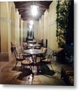 Dining At The Castle Metal Print