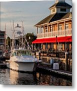 Dining At The Marina Metal Print