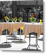 Dining Out Metal Print