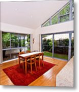 Dining Room With Slanted Ceiling Metal Print