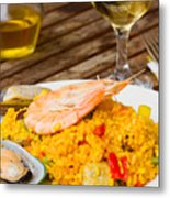 Dining With Paella Metal Print