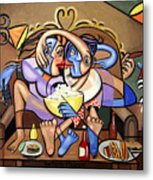 Dinner And A Movie Metal Print