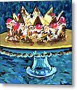 Dinner Cake Metal Print