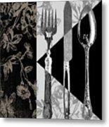 Dinner Conversation Metal Print