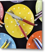 Dinner Party Table Setting Metal Print
