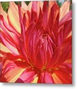 Dinner Plate Dahlia Flower Art Print Orange Baslee Troutman Metal Print