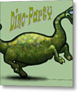 Dino Party Metal Print