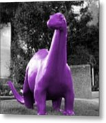 Dino Selective Coloring In Ultra Violet Purple Photography By Colleen Metal Print
