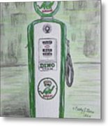 Dino Sinclair Gas Pump Metal Print