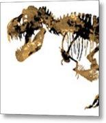 Dinosaur Sepia Print Metal Print