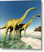 Dinosaur World Metal Print