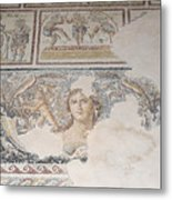 Dionysus Mosaic Mona Lisa Of The Galilee Metal Print by Ilan Rosen