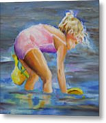Dipping In The Great Lakes Metal Print