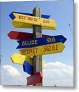 Directions To Paradise Metal Print
