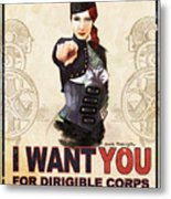 Dirigible Corps Metal Print by Brian Kesinger