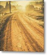 Dirt Road Sunrise Metal Print