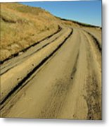 Dirt Road Winding Metal Print by Sami Sarkis