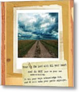 Dirt Road With Scripture Verse Metal Print