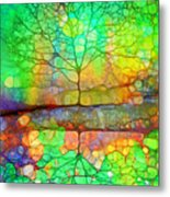 Disappearing In Colour Metal Print