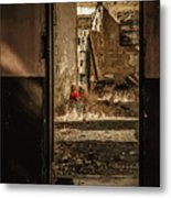 Discarded Doll Metal Print