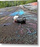 Discarded Spray Paint Can Metal Print