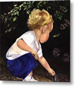 Discovering Bubbles Metal Print