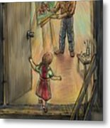 Discovering Daddy's World Metal Print