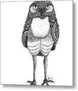 Disgruntled Owl Metal Print