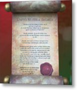 Disney World Christmas In The United States Scroll Metal Print