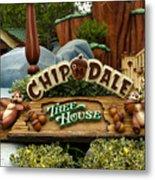 Disneyland Chip And Dale Signage Metal Print