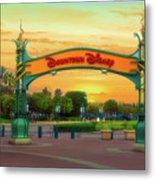 Disneyland Downtown Disney Signage 02 Metal Print