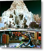 Disneyland Tomorrowland - Pop Color Metal Print
