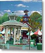 Disneyland Toontown Young Man Proposing To His Lady Panorama Metal Print