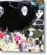 Display Trunk Car Day Dead  Metal Print