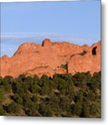 Distant Camels In The Garden Of The Gods Metal Print