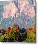 Distant Cattle Grazing Beneath Cascade Mountains 2 Metal Print