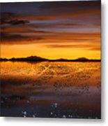 Distant Hills At Sunset Metal Print