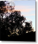 Distant Moon Metal Print