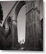 Distant Mountain And Long Bridge Metal Print