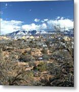 Distant Mountain Range Metal Print