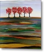 Distant Trees Metal Print by Carolyn Weir