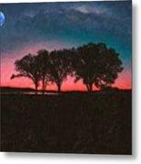 Distant Trees Under Milkyway Horizon By Adam Asar 3 Metal Print