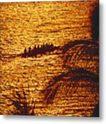Distant View Of Outrigger Metal Print