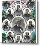 Distinguished Colored Men Metal Print by War Is Hell Store