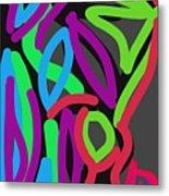 Distorted Geometry Metal Print