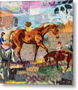 Distracted Riding Metal Print by Martha Ressler
