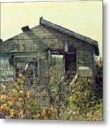 Distressed Honey House Door County Wisconsin Metal Print
